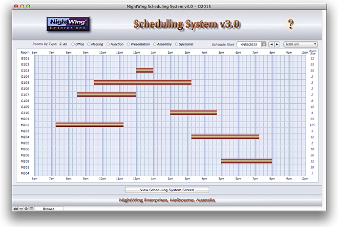 Nightwing Enterprises Scheduling System V3x For Filemaker Pro